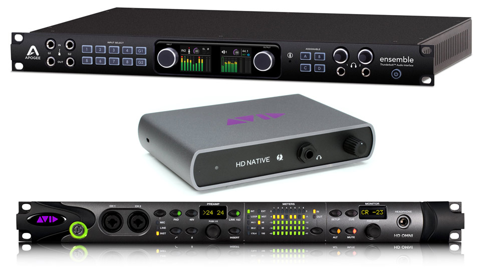Avid Pro Tools HD Native Thunberbolt and Apogee Ensemble Thunderbolt interface