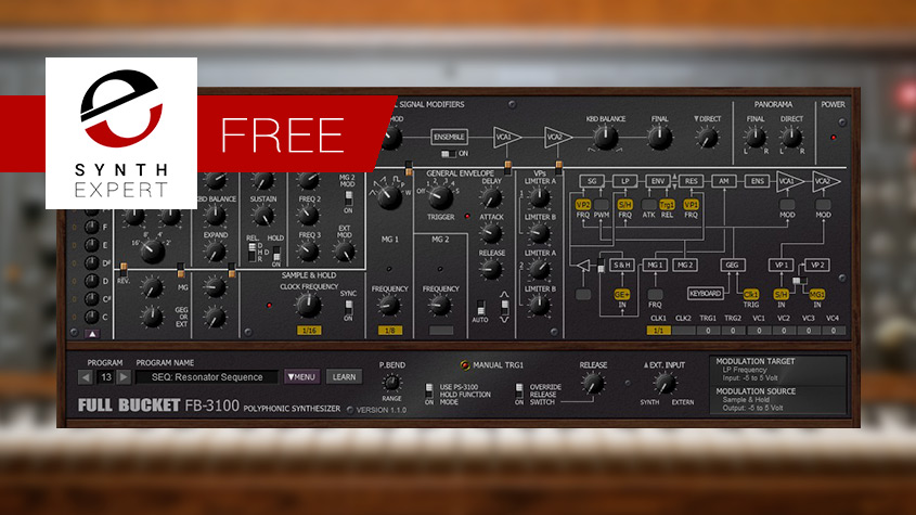 Free plug-in Of Vintage KORG PS-3100 Polyphonic Synthesizer From Full Bucket Music