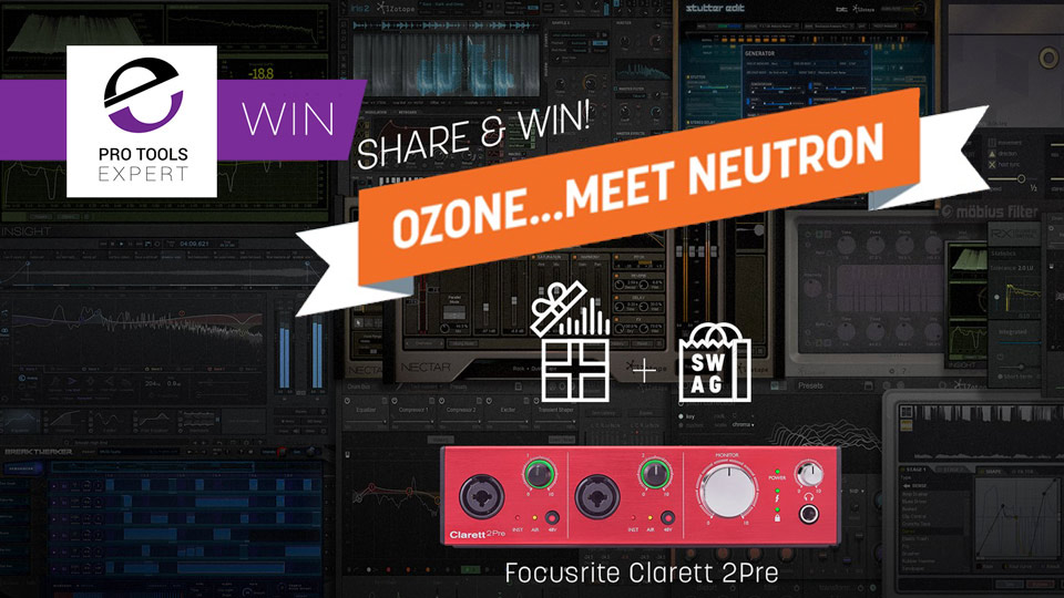 iZotope Giveaway 3 - iZotope Everything Bundle, Swag And Focusrite Clarett 2Pre Interface