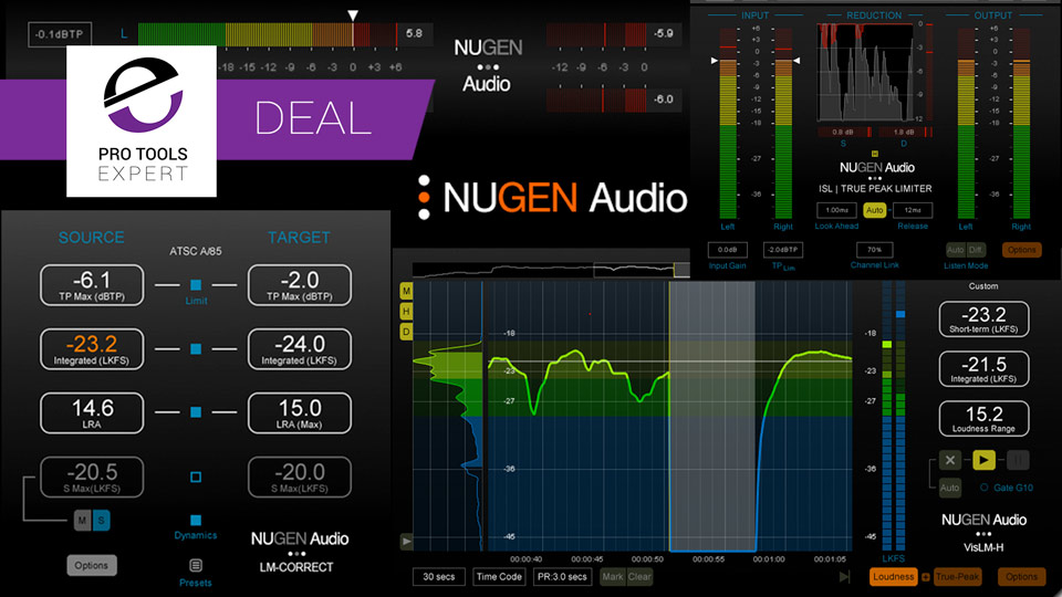 Nugen Audio Offering 25% Off Loudness Plug-ins And Free DynApt Offer Until December 15th 2017