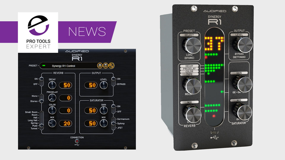 Audified Announce Availability Of 500 Series Software/Hardware Hybrid Digital/Analogue SYNERGY R1 Reverb Module