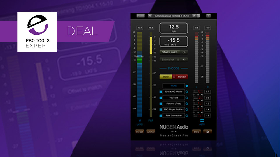 Avid Offering Pro Tools Users 50% Off Nugen Audio's MasterCheck Pro