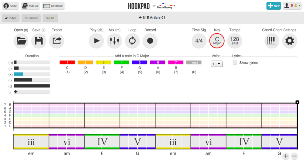 Easily Build Chord Progressions And Melodies Using Hookpad