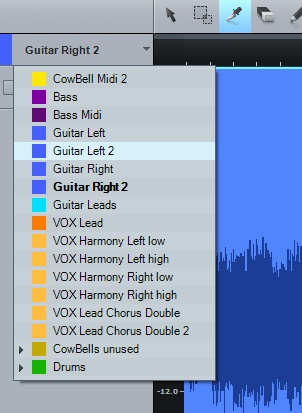 Track Selection in the Audio Editor