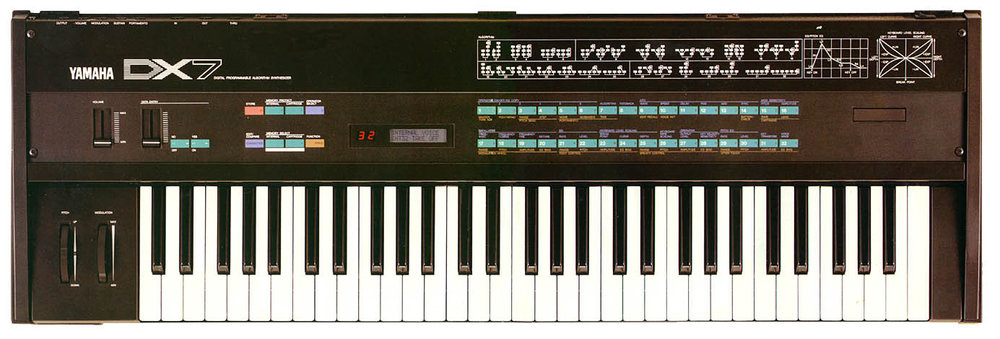 Yamaha DX7 synthesizer. Image via Wikimedia Commons.