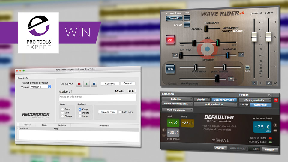Win - Quiet Art Defaulter, WaveRider And Recorditor Bundle Worth $427