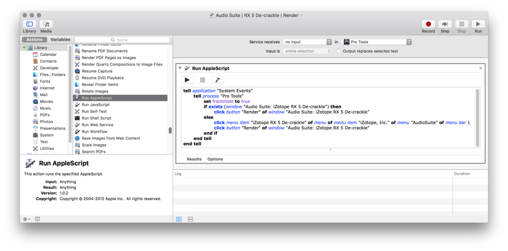 Click the image to see a larger version of this Automator window