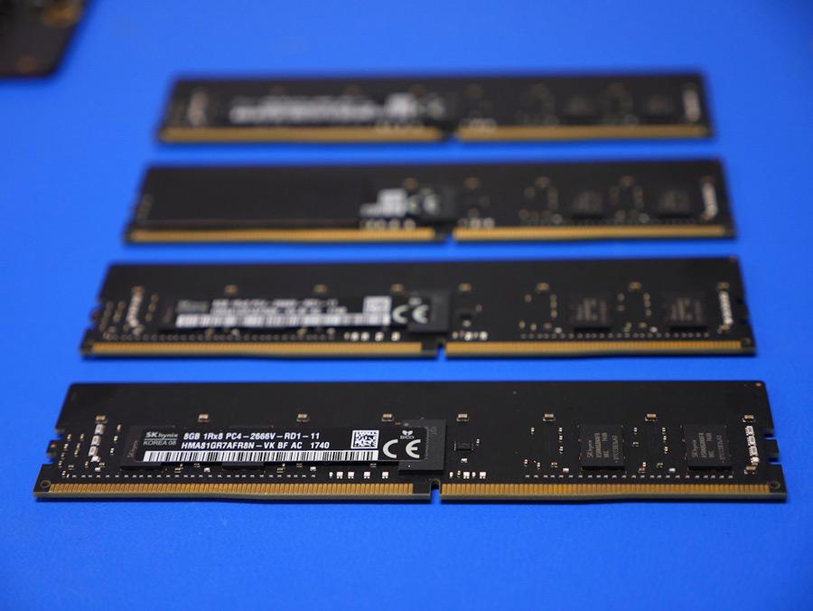 Four memory sticks