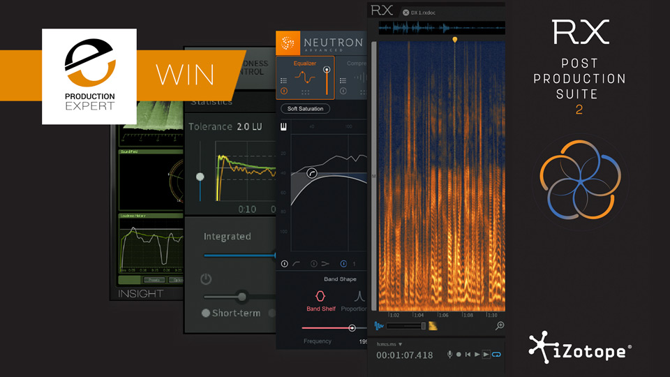 Winner - iZotope RX Post Production Suite 2 Worth $1499