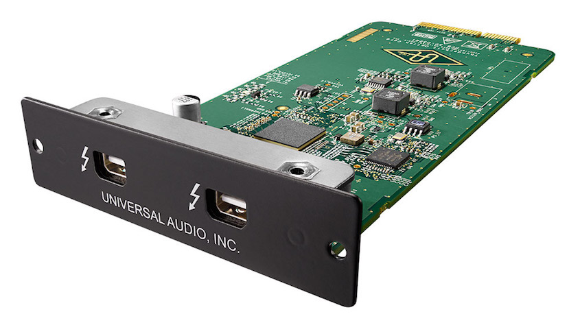 UA's Thunderbolt 2 card is easily slotted in to the back of their original Apollo interface, which used FireWire 800.