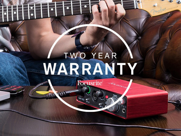Focusrite Offer 2 Year Warranty