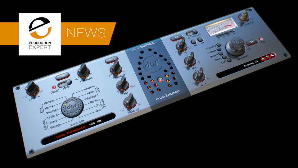 Audified Partner With DW Drums To Release DW Drum Enhancer Plug-in