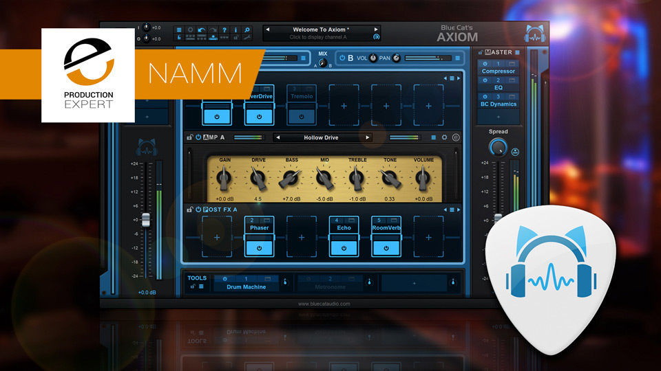 Blue Cat Audio Reveal Details Of Their Axiom Multi-effects Processor & Amp Simulation Software