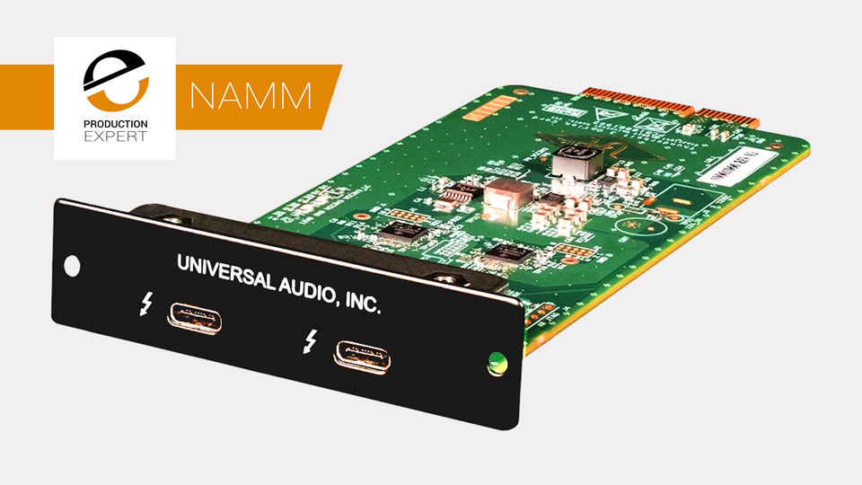 Universal Audio Announces Thunderbolt 3 Option Card For Apollo Audio Interfaces