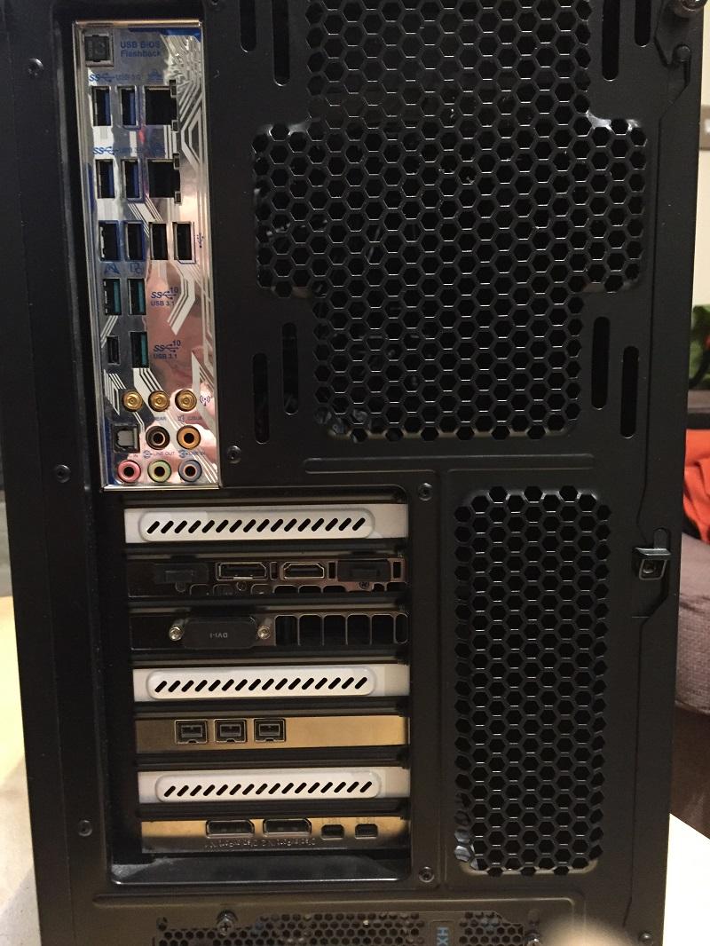 Self Build Pro tools Host computer Back Panel