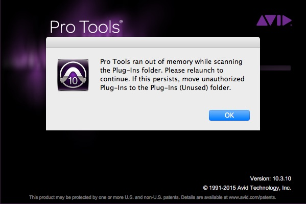 Pro Tools 10 running out of memory