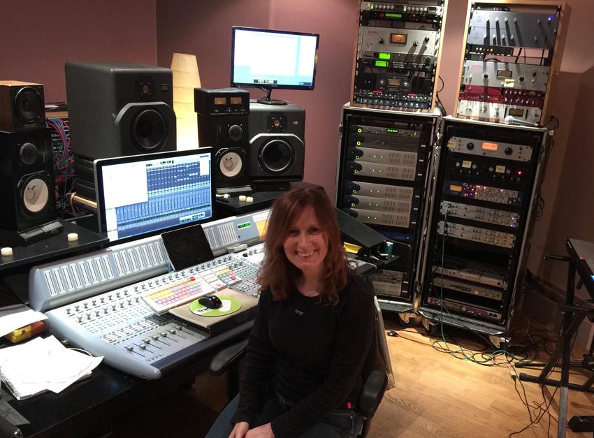 Avril Mackintosh Winner of Kii Studio Monitors in her studio