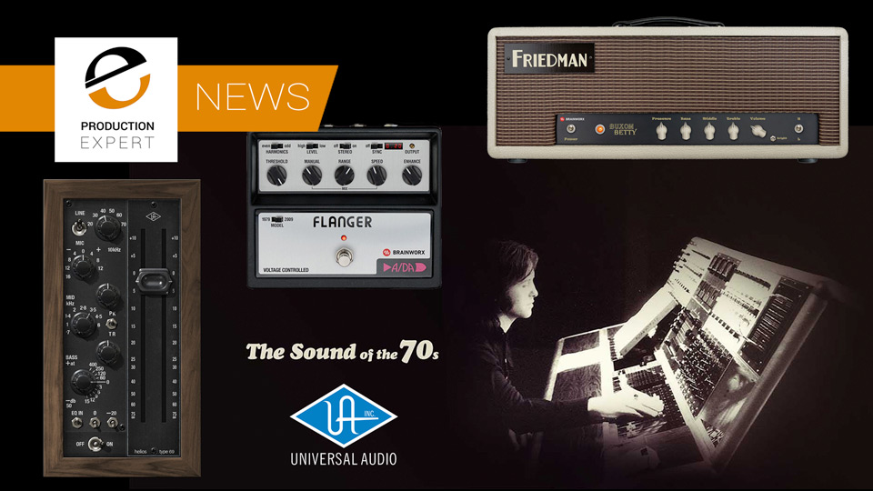 Universal Audio Release V9.5 With A/DA Flanger, Buxom Betty Amp And Helios Type 69 Plug-ins