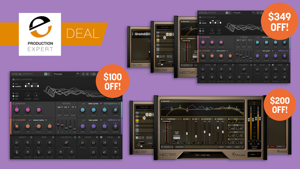 iZotope Vocal Plug-in Deals Available Until February 28th 2018
