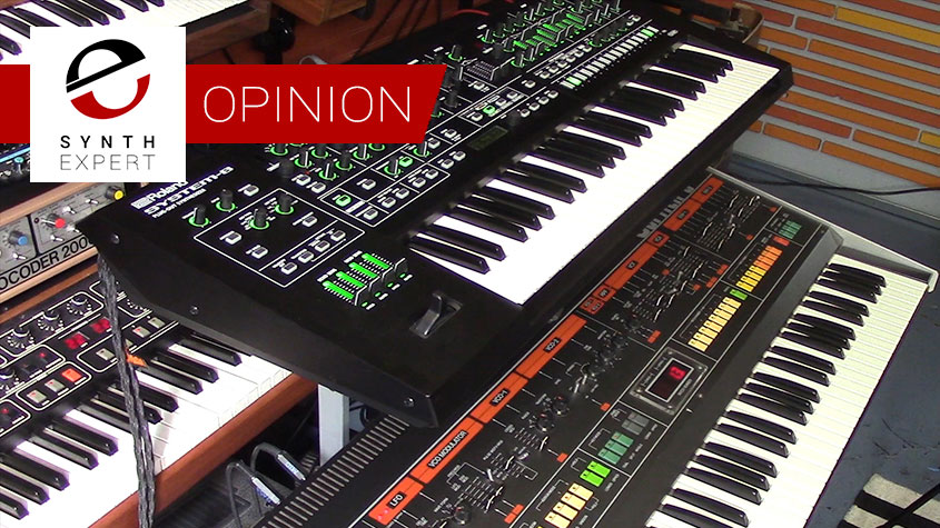 Something old, something new: Roland System-8 over Jupiter-8. Guess which one you should want to take to the gig?