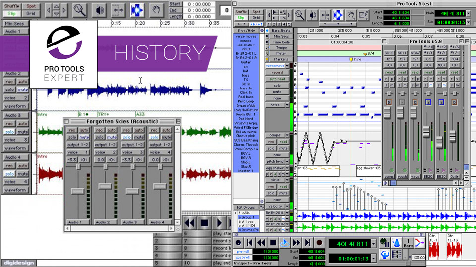 The History of Pro Tools - 1994 to 2000