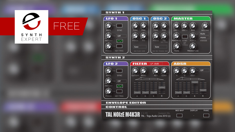 Friday Free Synth Plug-in - TAL-NoiseMaker