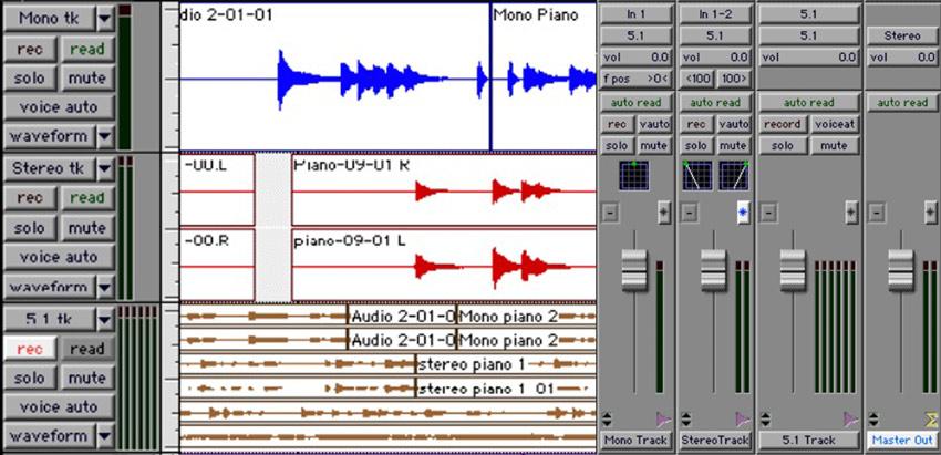 Pro Tools 5.1 Edit & Mix Window