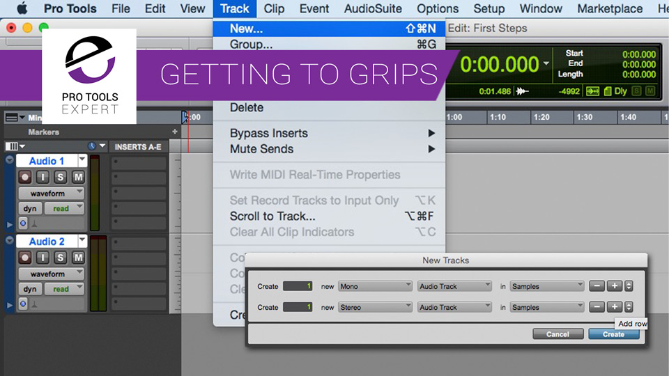 Getting To Grips With Pro Tools Part 5 - New Tracks
