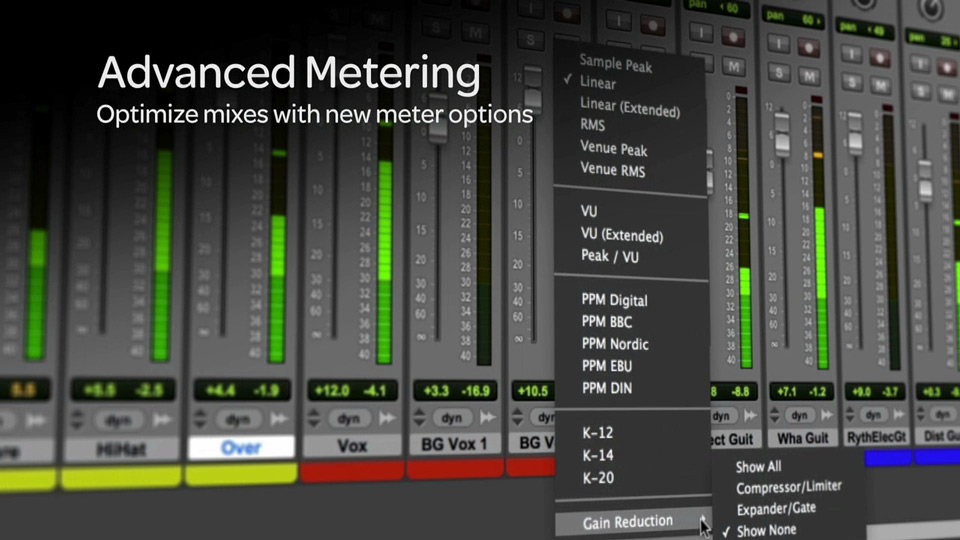 Pro tools 11 Advanced Metering Options