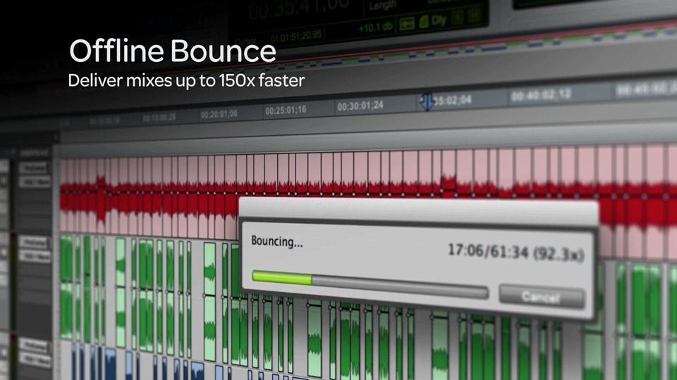 Pro Tools 11 Offline Bounce Window