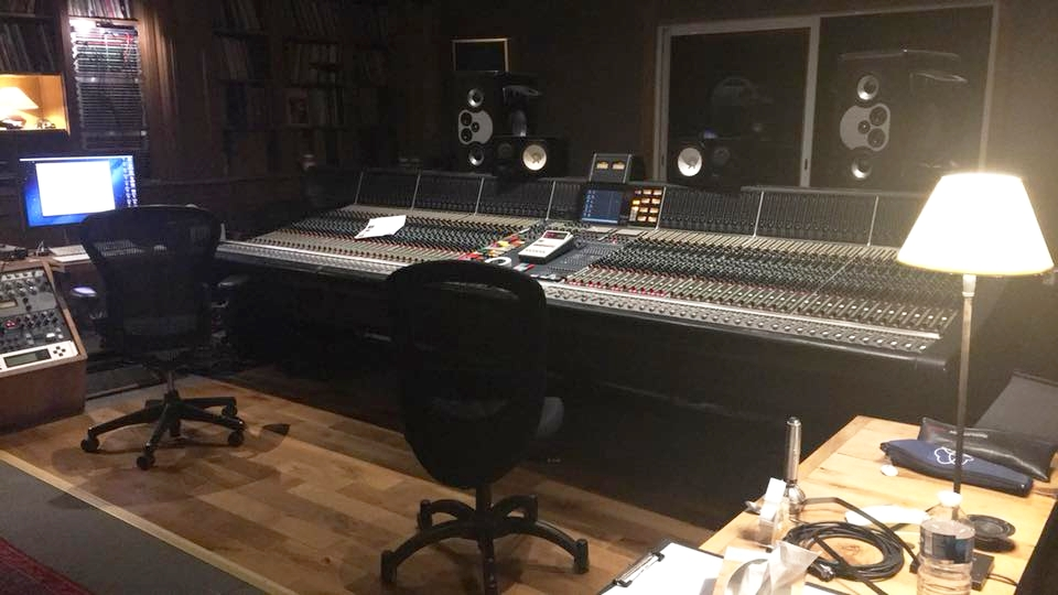The Neve 88 console at Studios La Fabrique
