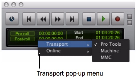 MachineControl Transport Window Popup