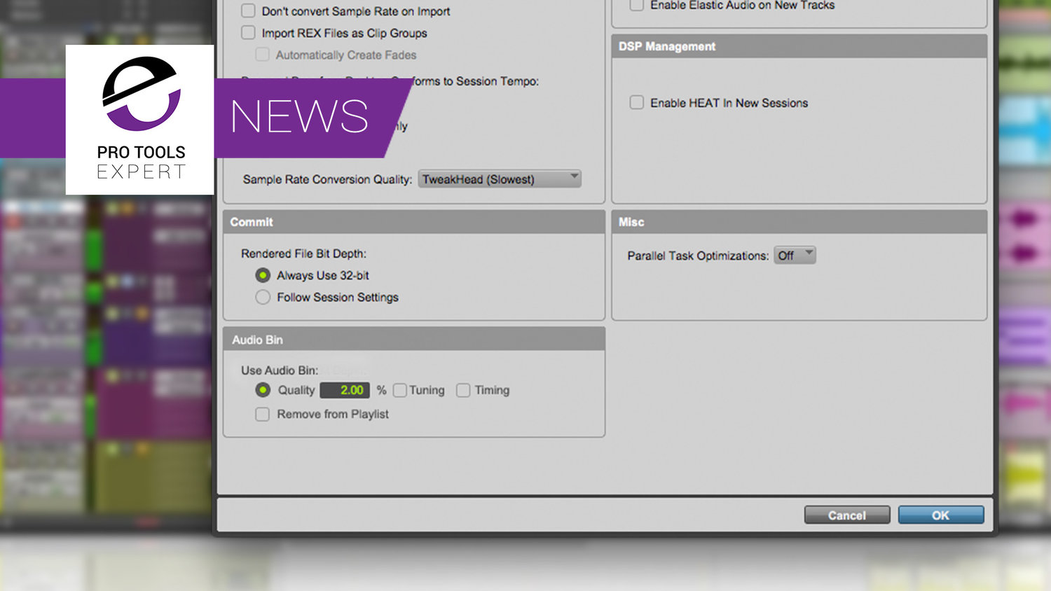 Rumour - New Feature In Pro Tools 2018 4 1 - Audio Bin | Pro