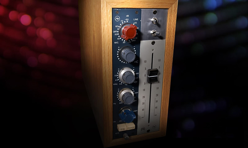 """Introduced in 1970, the class-A Neve 1073 epitomises the beautiful """"Neve sound,"""" with unparalleled clarity, sheen, and bite."""