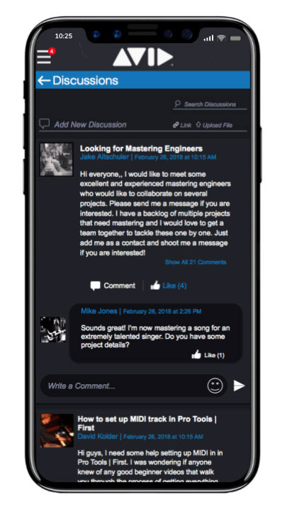Avid Connect app Discussions