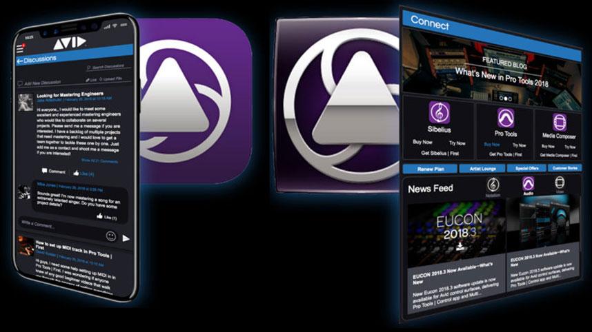 Avid Connect app - desktop and Mobile