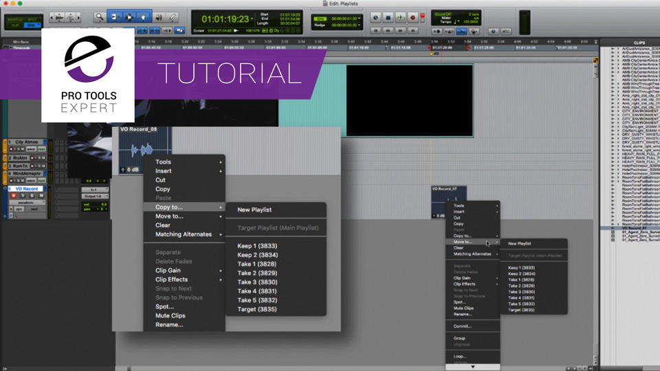 Tutorial - Using Pro Tools Track Presets And Working With Playlists In Audio Post Production