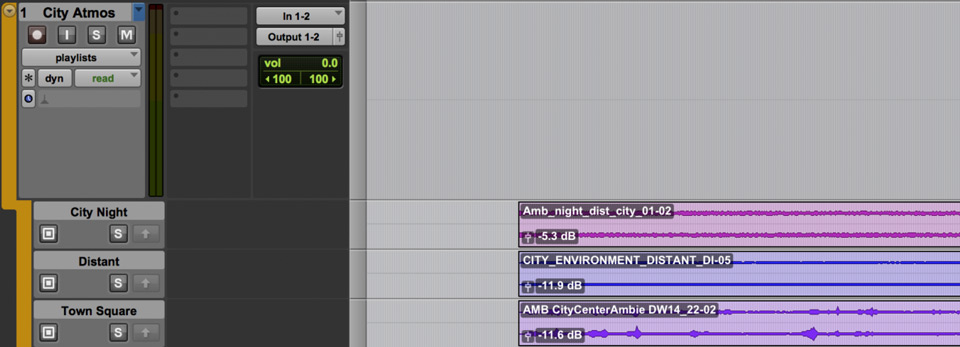 Track Presets in Pro Tools Atmosphere-Playlist