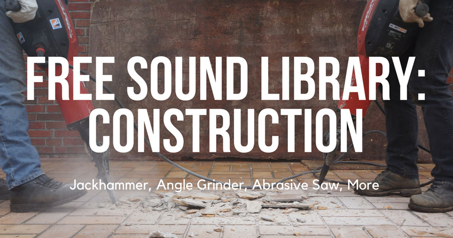 Airborne Sound Release New Free Sound FX Library - Construction