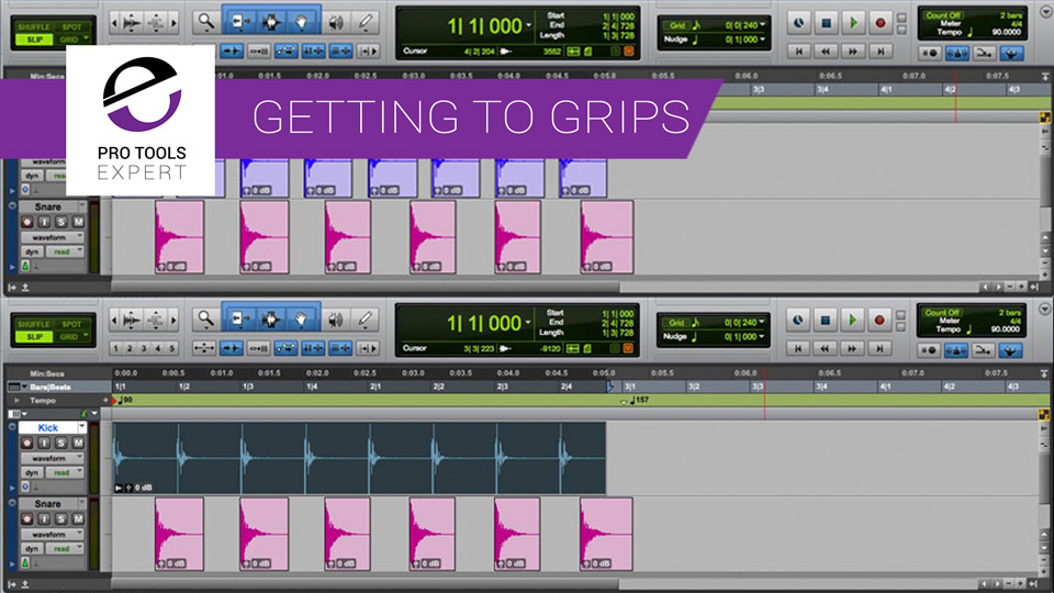 Getting To Grips With Pro Tools - Part 10 - Clip Groups