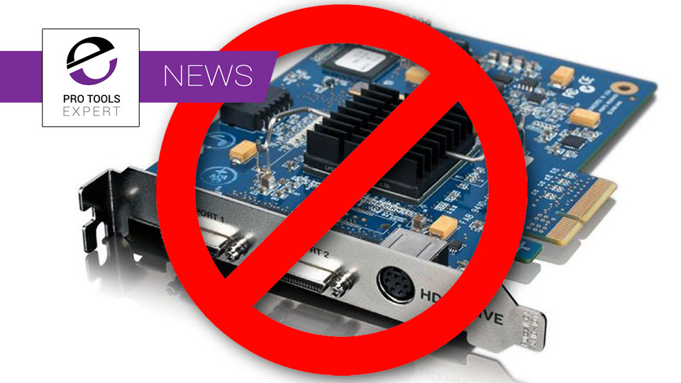 Avid Quietly Discontinue Their Pro Tools HD Native PCI-e Cards - Is This A Sign Of Things To Come?