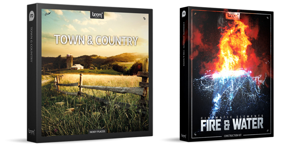 Boom Town & Country And Cinematic Elements: Fire & Water Libraries