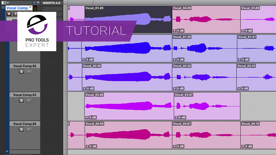 Getting To Grips With Pro Tools Part 11 - Playlists, Vocal Comping & Labels
