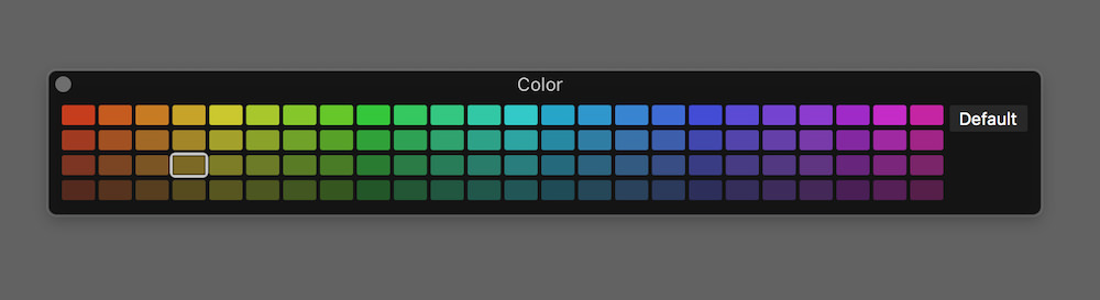 logic pro x 10.3 colour picker