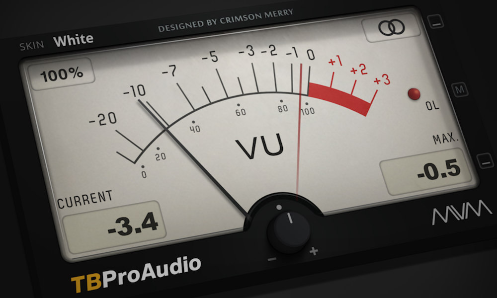 a screenshot of the free metering plugin by TBPro Audio