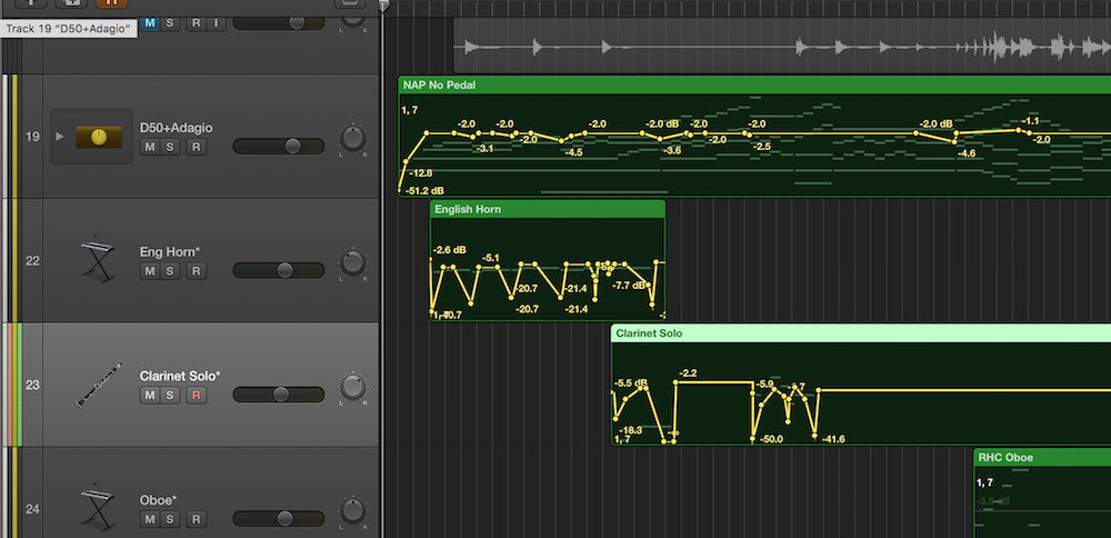 a picture of volume automation in logic pro x