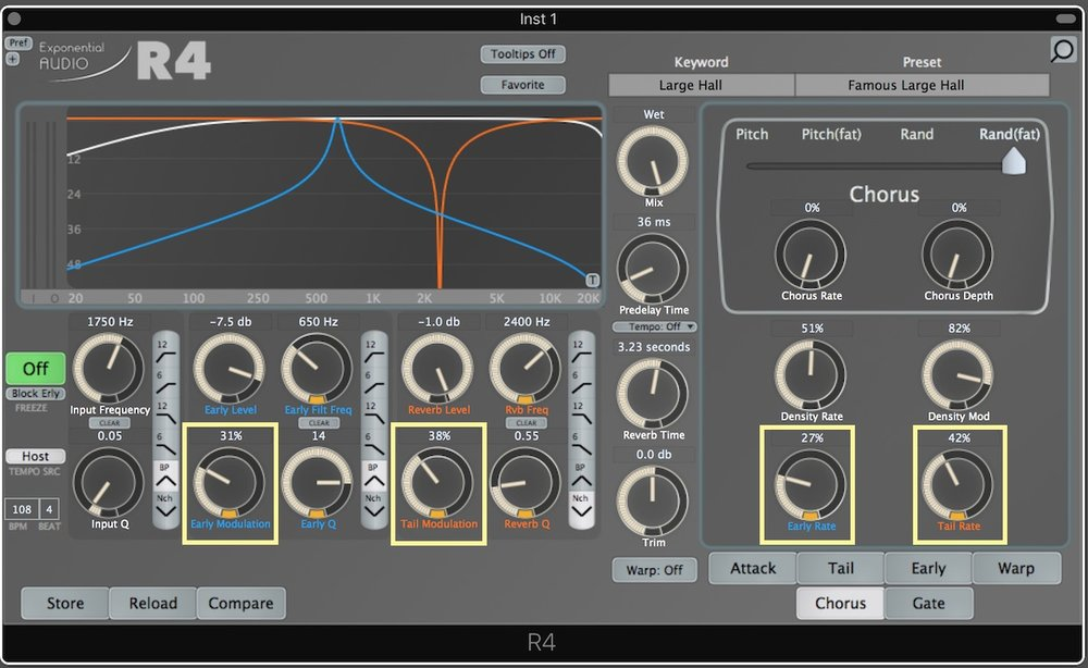 Exponential Audio R4 Review 01 Filter modulation