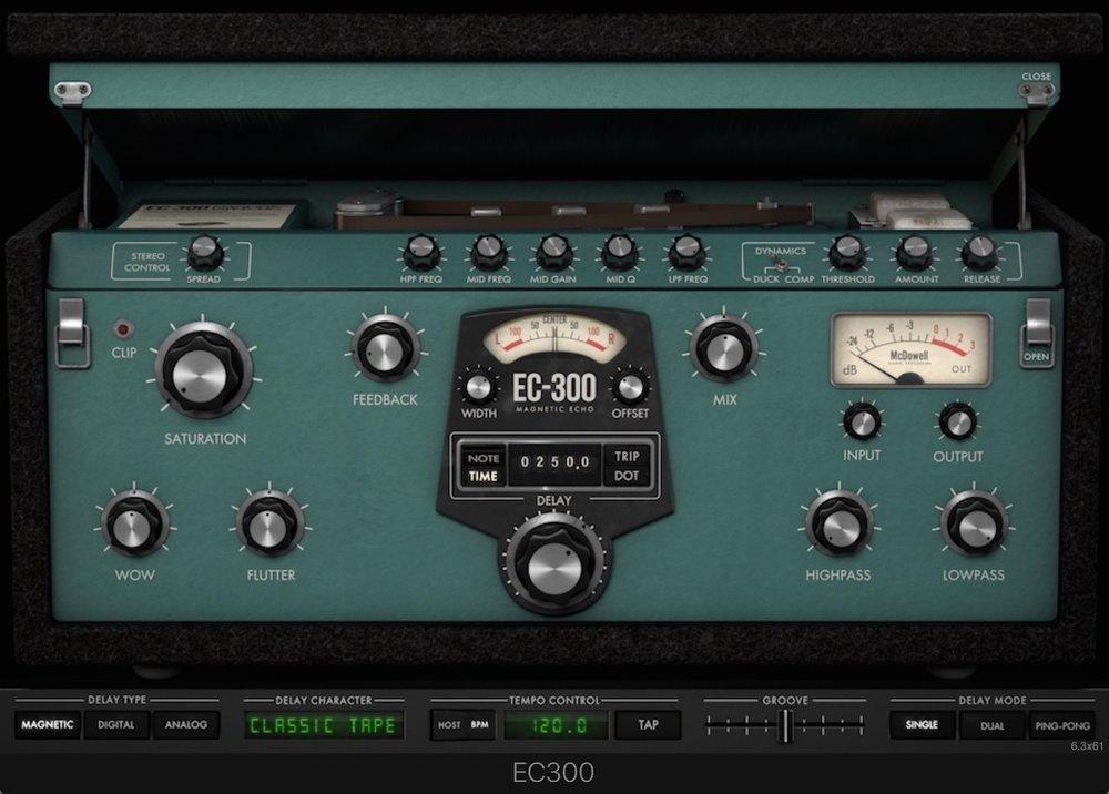 a screenshot of the McDSP EC 300 Echo Collection plugin
