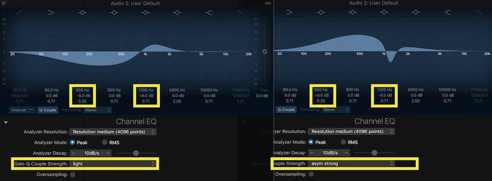 Logic Pro X Channel EQ Magic 04 cut and boost