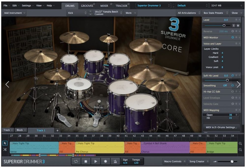 a screenshot of the all new superior drummer 3 by toontrack